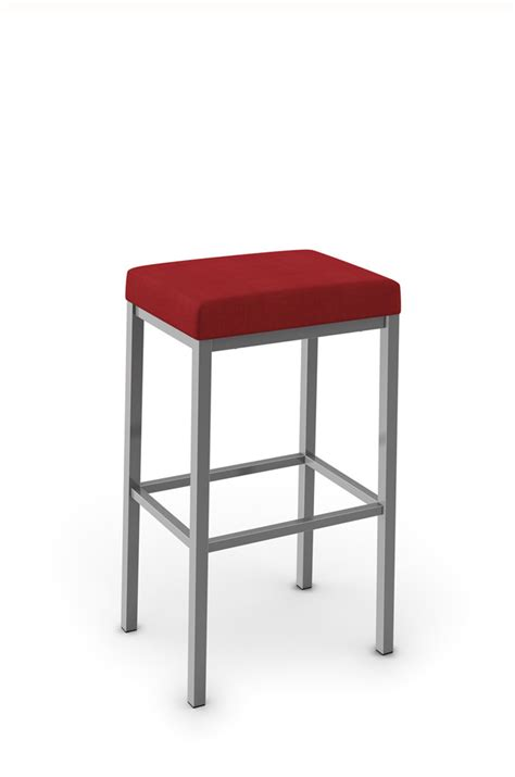 amisco s bradley narrow depth backless modern stool
