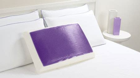 electric cold pillow buy icy violet waves hydraluxe bed cooling gel pillow at