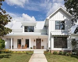 Farmhouse Two-Story Exterior Design Ideas, Pictures