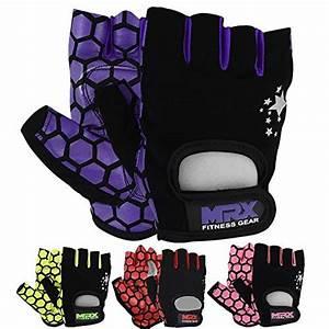 Mrx Women U0026 39 S Weight Lifting Gloves Gym Training Bodybuilding Workout Glove Purple Star M