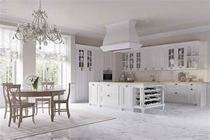 Cucine eleganti barocche cucine bianche country chic for Cucina stile country chic