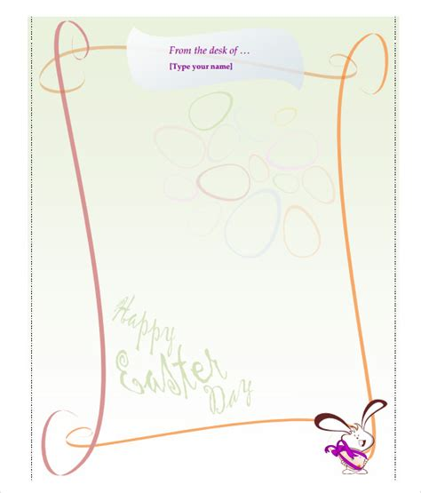 easter bunny letter    documents   word