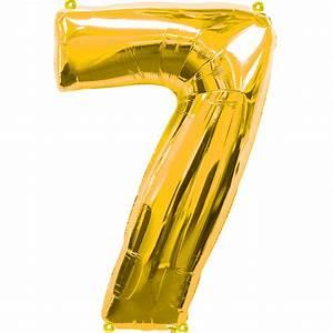 Gold Berechnen : folienballon nummer 7 gold 58x86cm schweizer onlineshop ~ Themetempest.com Abrechnung