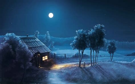 Wallpapers, Hd, Light, Moon, Night, Shadow, Wallpaper ...