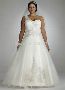 2014 sexy white plus size wedding dresses one shoulder With plus size beaded wedding dresses