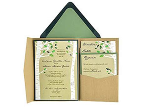birch trees  wedding invitation  template suite