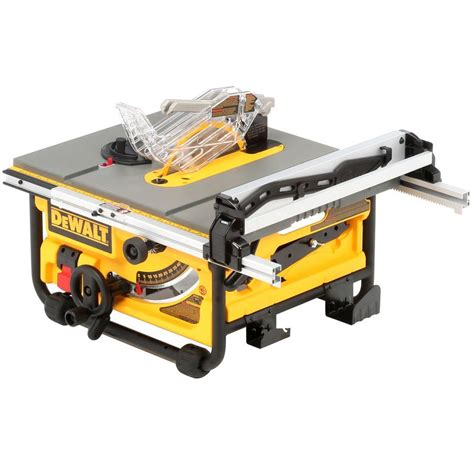 dewalt table saw dewalt 15 amp corded 10 in compact site table saw