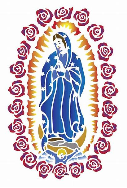 Guadalupe Lady Drawing Virgen Mary Clipart Chicano