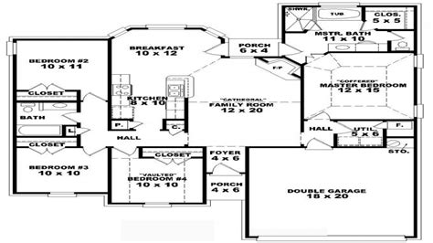 9 Bedroom One Story 4 Bedroom One Story House Plans, One