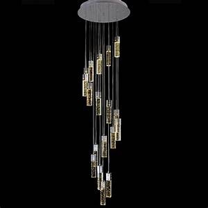 Deco hanging lamps long led cone spiral pendant lamp for