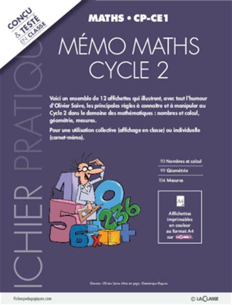 memo maths cycle  fichespedagogiquescom