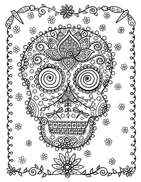 193 best coloring skull images on Pinterest | A tattoo
