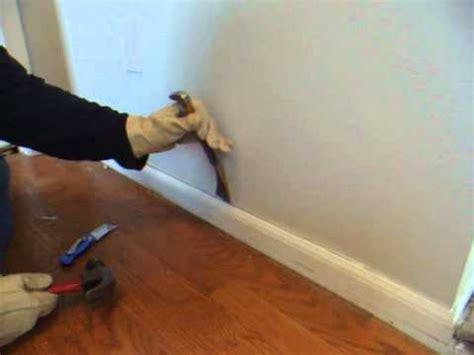 remove wood molding quarter  baseboard