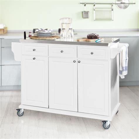 SoBuy Neu Luxus Küchenwagen mit Edelstahlplatte