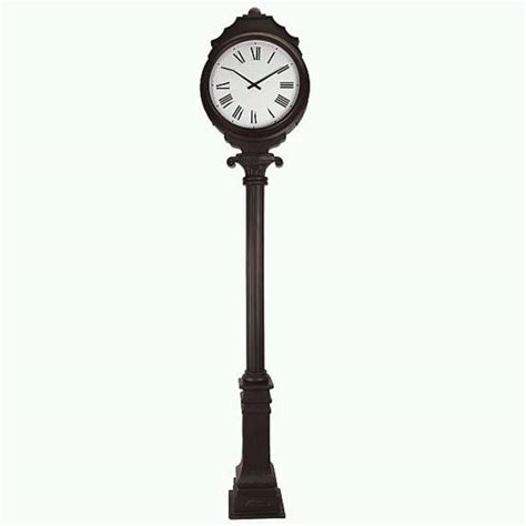 large dual sided freestanding outdoor clock th025 05