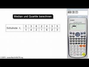 Median Berechnen Statistik : mathe video median und quartile berechnen von beobachtungswerten taschenrechner nachhilfetv ~ Themetempest.com Abrechnung
