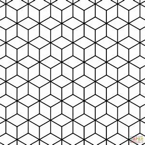 geometric tessellation with rhombus pattern super With tessellating shapes templates