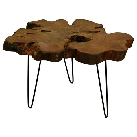 Live edge coffee table with hairpin legs. Redwood Tree Live Edge Coffee Table with Hairpin Legs ...