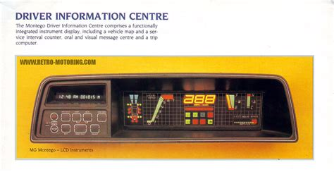 MG Montego Digital Dashboard | Retro-Motoring : Classic ...
