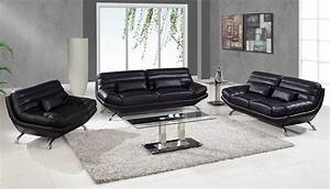black glass living room furniture sets With black and glass living room furniture