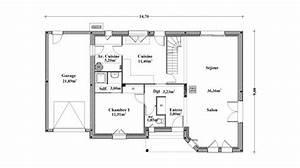 cool plan maison plain pied m garage pictures to pin with With good plan maison avec patio 7 maison plain pied 2 chambres plans amp maisons