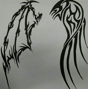 Tribal Evil Angel Pictures to Pin on Pinterest - TattoosKid