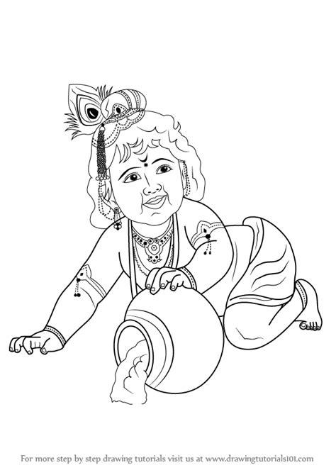 draw baby lord krishna video drawingtutorialscom