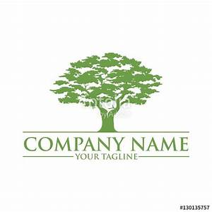 """""""Simple And Modern Green Oak Tree Logo"""" Stock image and ..."""