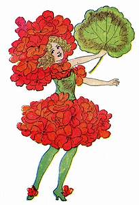 Vintage Clip Art - Geranium Flower Fairy | Clip Art and ...