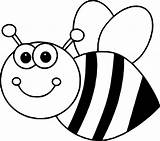 Bee Coloring Bumble Pages Sheet Clipart sketch template