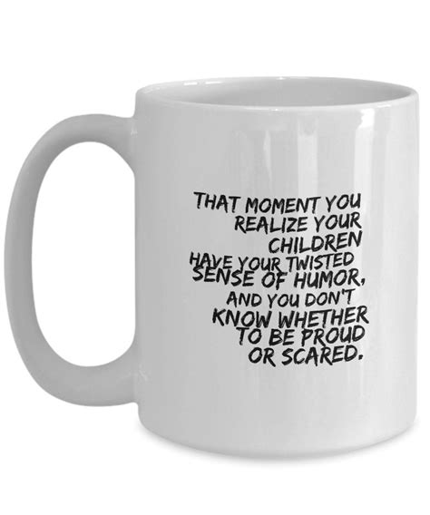 All white ceramic coffee mug features a classic mug shape and stands 3.75 tall. Amazon.com: Coffee Mug Quote Mother Day Gifts For Wife Mother Gifts From Daughter That moment ...