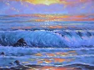 comment peindre a l acrylique sur toile comment peindre un coucher du soleil 1 sur la page cour de peinture acry saber