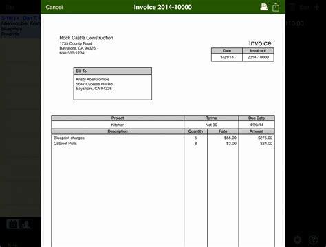 quickbooks invoice template excel exceltemplates