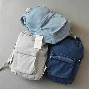 Fashion Couple Backpack for Girls And Boys Travel Denim ...