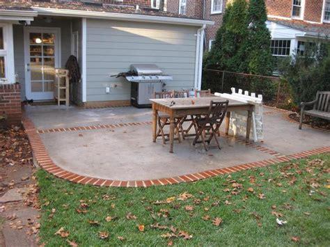 fascinating concrete and brick patio also interior home