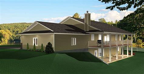 ranch style bungalow walkout basement laid home country