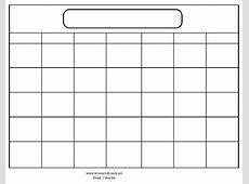 Print Blank Calendar Template calendar printable free