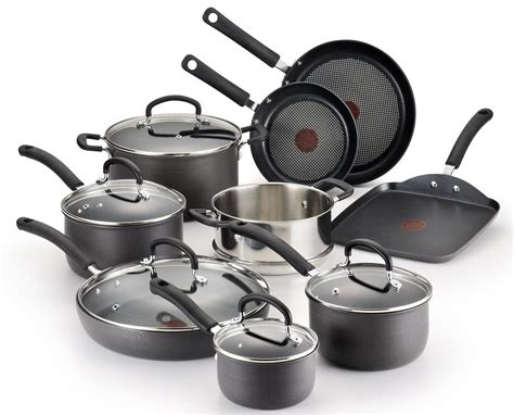 oven ultimate pans cookware safe dishwasher nonstick pots fal anodized hard piece amazon 14pc inch anti interior kitchen thermo