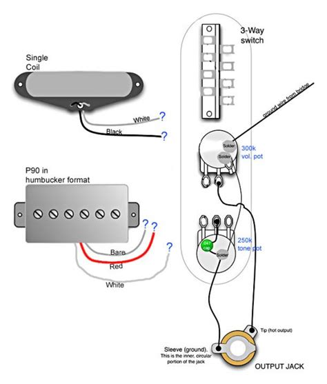 3 P90 Wiring Diagram by Help Telecaster Single Coil P90 Wiring