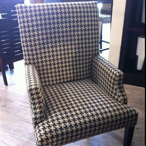 houndstooth dining chair in brown and i o metro