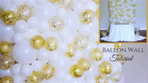 balloon wall tutorial wedding decoration ideas youtube
