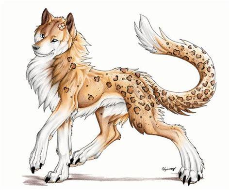 A Cheetah Or Leopard Print Anime Wolf