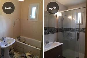 Rénovation Salle De Bain Avant Après : r novation de salle de bain dans l est de l ile de france ~ Dallasstarsshop.com Idées de Décoration