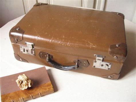 brown cardboard suitcase luggage vintage handle