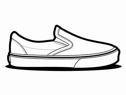 Vans Shoes Slip Vector Shoe Drawing Classic