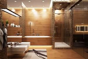 Salle De Bain Bois : le bois s invite dans la salle de bain astuces bricolage ~ Teatrodelosmanantiales.com Idées de Décoration