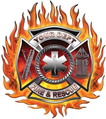 flaming firefighter tattoos design