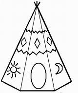 Teepee Coloring Pages Indian American Template Sheets Tipis Printable Tipi Teepees Native Colouring Yahoo Results Simple Para Colorear Templates Cut sketch template