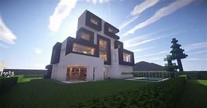 minecraft architecture: modernist style house 2 on