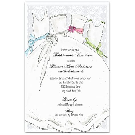bridesmaids invitations bridal party bridesmaids luncheon invitations paperstyle